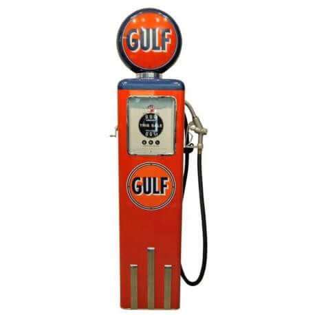 Pompe à essence Gulf couleur orange