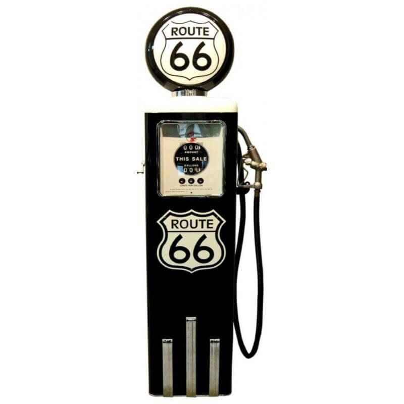pompe essence route 66 couleur noire us way of life. Black Bedroom Furniture Sets. Home Design Ideas