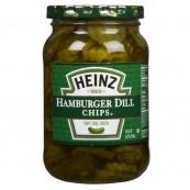 Tranches de cornichons pour Hamburgers HEINZ : Heinz Dill chips pickles