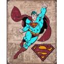 """Plaque publicitaire métal """"Superman"""""""