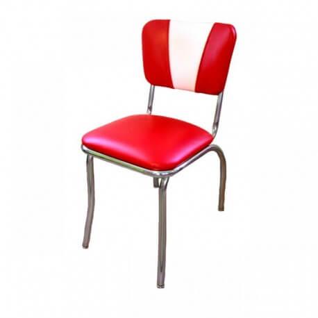 "Chaise de diner vintage rouge "" Morbern American Beauty """