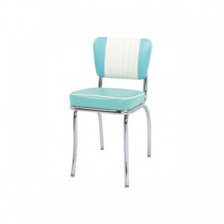 chaise de diner vintage bleu ciel malibu - us way of life