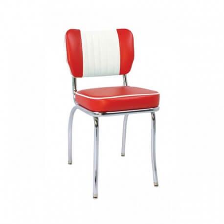 """Chaise de diner vintage rouge """"Malibu"""""""