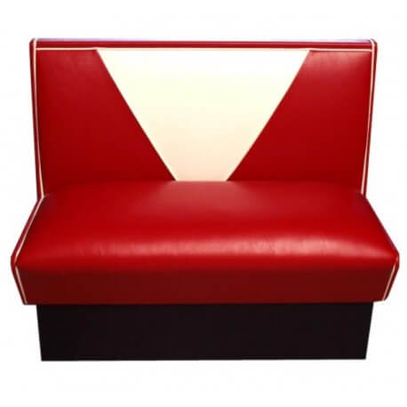 "Banquette pour diner américain rouge ""Morbern American Beauty"""