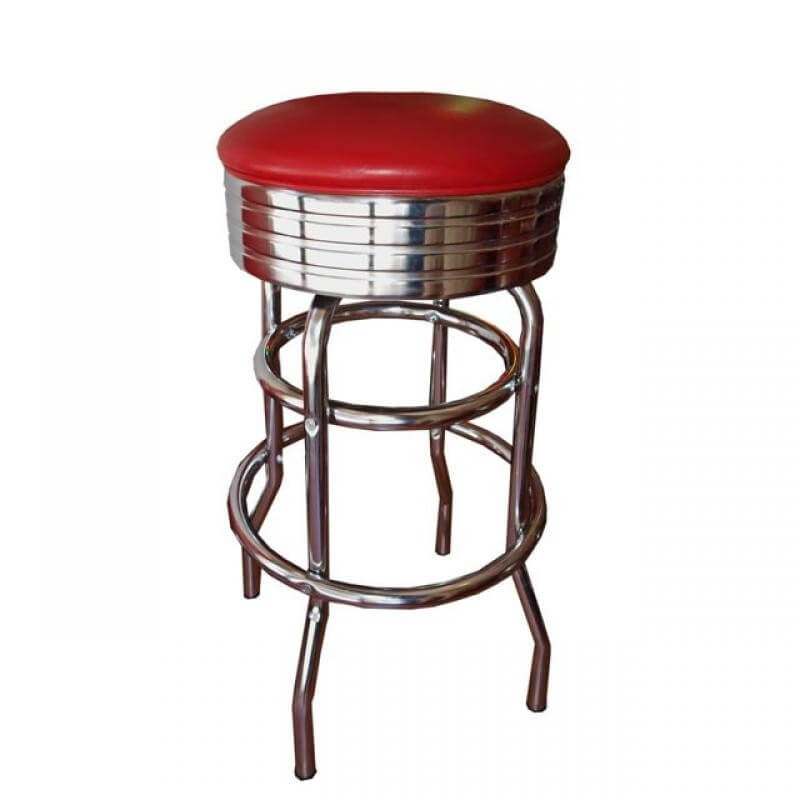 Tabouret de bar rouge pour diner us way of life - Tabourets de bar rouge ...