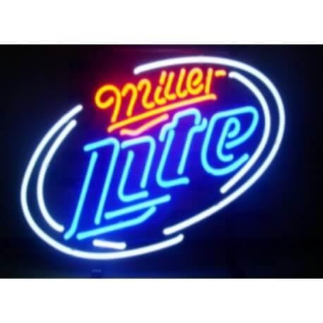 Enseigne néon lumineuse MILLER LITE