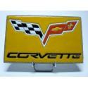 Logo Corvette lave émaillée
