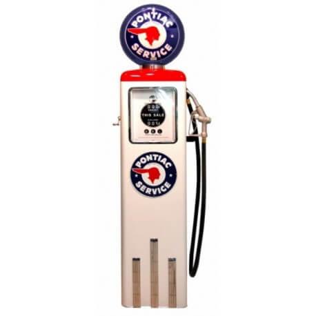 Pompe à essence Pontiac couleur blanche