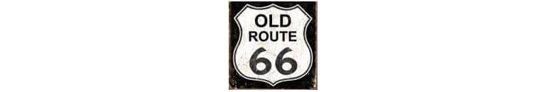 acheter plaques de d co route 66 us way of life. Black Bedroom Furniture Sets. Home Design Ideas