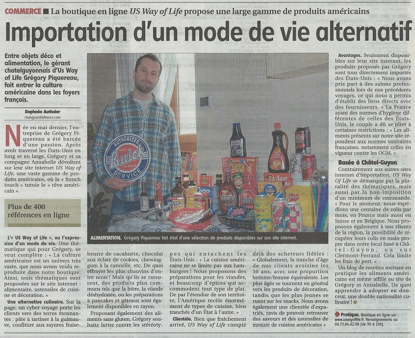 Interview épicerie américaine en ligne US Way Of Life
